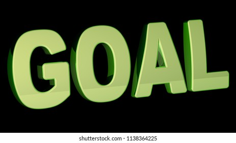 Goal. 3D Illustration.