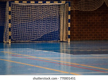 Goal for futsal and handball in a sports hall