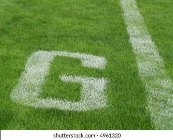 goal line - G - on an American football field