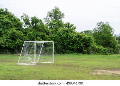 goal of local football field in Thailand