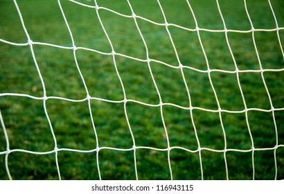 Goal net. Shallow perspective. Great design element.