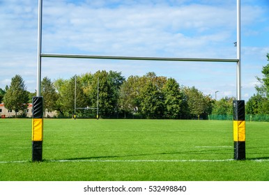 Goal on a rugby court
