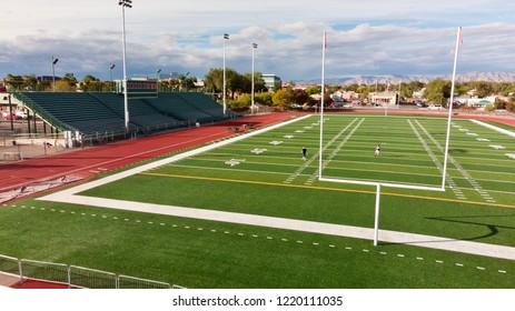 Goal Post On Municipal Football Field