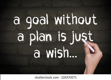 A Goal Without a Plan is Just a Wish / Motivational Inspirational Quote Wall Background