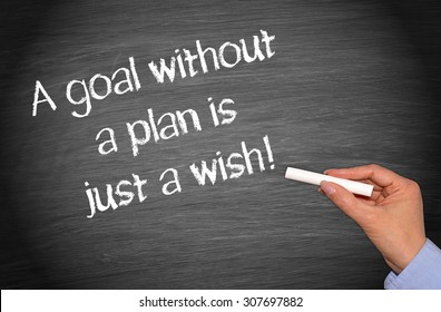 A goal without a plan is just a wish !