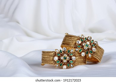 goald bridal bangles for Indian wedding - Shutterstock ID 1912172023