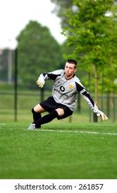 goalie making a save