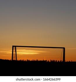 Goalie Sunset in Valla, Sweden