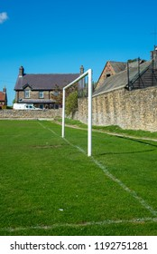 Goalposts at a local playing field