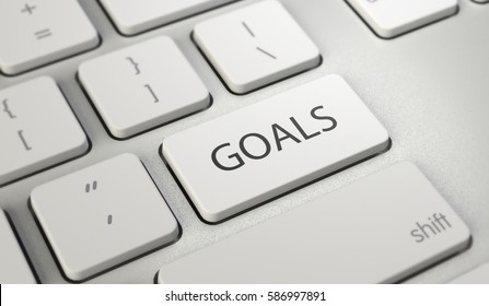 Goals button keyboard with soft focus