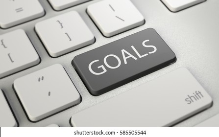 Goals button on keyboard with soft focus