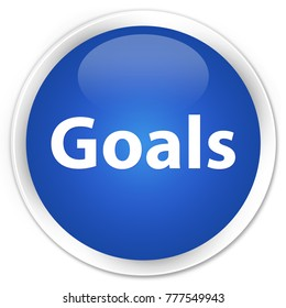 Goals isolated on premium blue round button abstract illustration