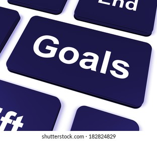 Goals Key Showing Aims Objectives Or Aspirations