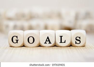 Goals word concept
