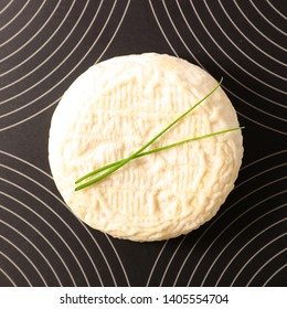 goat cheese and dill, top view