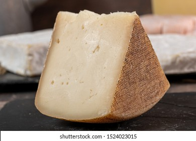 goat cheese Tomme or Tome, produced in the French Pyrenees