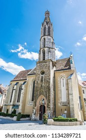 Goat church in Sopron, Hungary. Religious architecture. Travel destination.