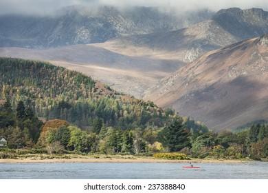 Goat Fell & Arran mountains on the Isle of Arran in Scotland