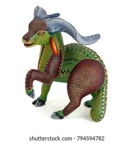 Goat Oaxacan alebrije wood carving art sculpture