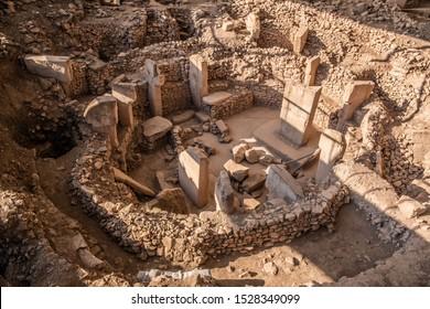Gobeklitepe, Sanliurfa / Turkey - October 2019: Gobekli Tepe is an archaeological site in Sanliurfa, Turkey