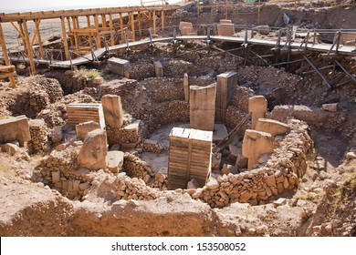 Gobeklitepe in Sanliurfa, Turkey. The remains of an ancient Neolithic sanctuary built on a hilltop. It is one of the oldest religious structures in the world.