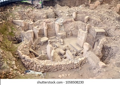 Gobeklitepe, Sanliurfa/Turkey: 24 March, 2018. The remains of an ancient Neolithic sanctuary built on a hilltop. It is the oldest religious structures in the world.