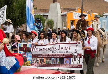 GOBERNADOR COSTA, CHUBUT, ARGENTINA - FEBRUARY 4, 2017: Provincial horse festival in Gobernador Costa (25 Fiesta Provincial del Caballo 2017). Patagonia, Argentina