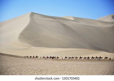 Gobi desert in Dunhuang , China