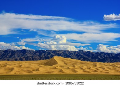 Gobi Desert, Mongolia - 6th June 2012 - one of the biggest deserts in the World, the Gobi is scorching in summer and freezing in winter. Here in particular the dunes at Khongoryn Els