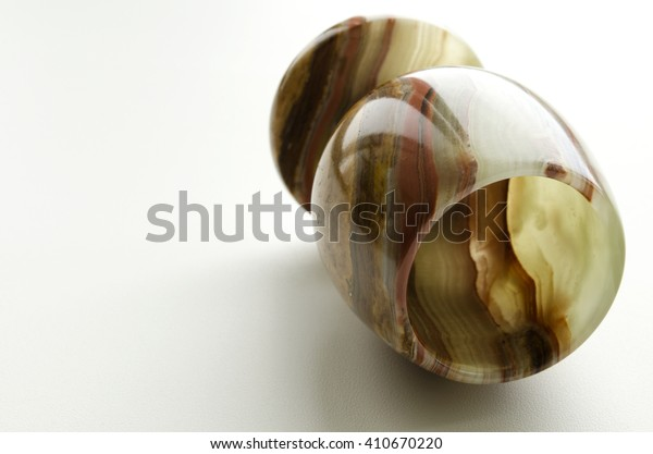 goblet carved from onyx on a light background