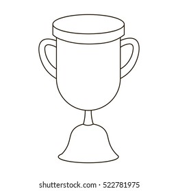 Goblet icon in outline style isolated on white background. School symbol stock bitmap illustration.