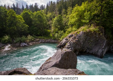 The Goblin Gates, a narrow gorge along the Elwha River on the Olympic Peninsula of Washington state