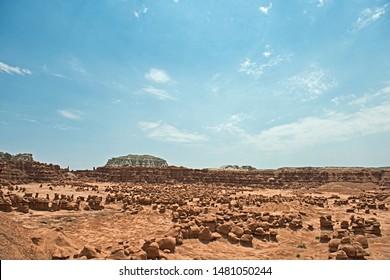 Goblin Valley hoodoos landscape and sky
