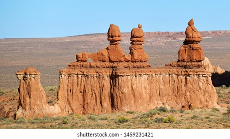 Goblin Valley Utah State Parks. Goblin Valley State Park is inhabited by strange and unique rock sculptures, carved by wind and water, that suggest mischievous goblins and phantasmagoric creatures.