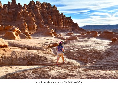 Goblin Valley Utah State Parks. USA. Goblin Valley State Park is inhabited by strange and unique rock sculptures, carved by wind and water