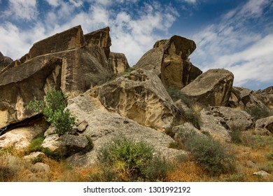 Gobustan, the habitat of ancient people is located in the Garadagh district