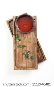 gochujang, chili peper paste on wooden tray