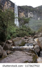 Gocta Falls, upper cataract, northern Peru.