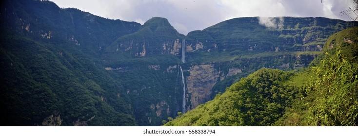 Gocta waterfall, 771m high. Chachapoyas, Amazonas, Peru