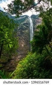The Gocta Waterfall in chachapoyas, Peru