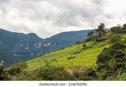 Gocta waterfall in the Chachapoyas region of northern Peru
