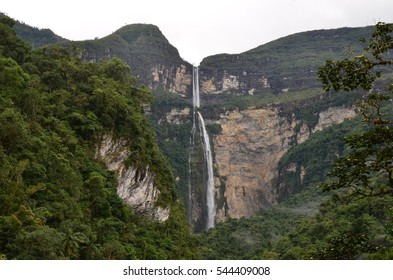 Gocta waterfall, One of the worlds highest at 771m tall. Chachapoyas, Peru