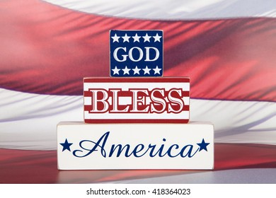 A God bless America sign for the Fourth of July Holiday