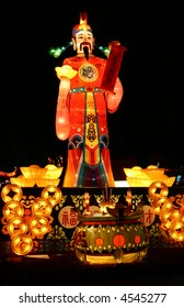 God of Fortune at chinese lantern festival celebrating new years