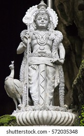 The god Murugan and his turkeycock in batu caves