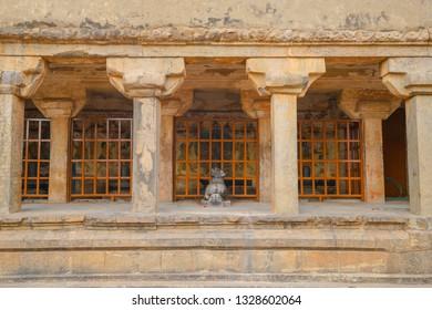 God Painted at Brihadeeswara Temple or Big Temple in Thanjavur, Tamil Nadu - South India