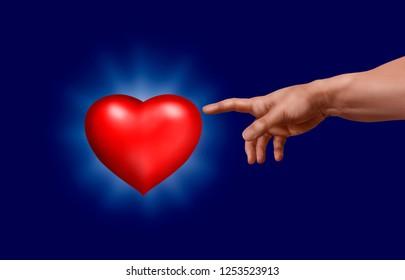God revives red heart