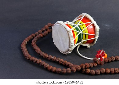 God Shiva Damroo (small hand drum) with Rudraksh Mala (MahaShivratri)