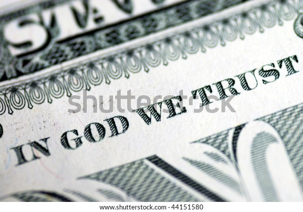 In God We Trust from the dollar bill