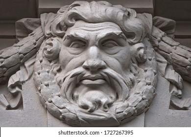 God Zeus is the son of the Titan of Cronus. Head of the gods. The ruler of Mount Olympus. God of lightning and thunder. Greek mythology. (Jupiter - Roman mythology)